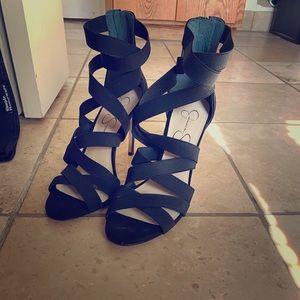 Size 7.5 4in heel sandals